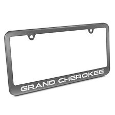 Jeep Grand Cherokee Metal License Plate Frame Matte Gray Finish