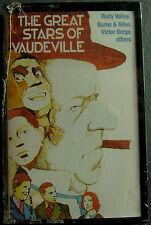 Great Stars Of Vaudeville:Jolson, Fields, Cantor, Durante...(Cassette, 1988) NEW