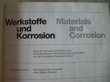 Werkstoffe Korrosion Materials Corrosion Korrosionschutz Forschung 33. Jg. 1982