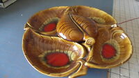 Vintage Gorgeous Retro Maurice Calif Pottery Snack Serving Tray 1710