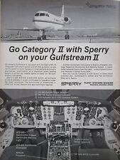 4/1969 PUB SPERRY RAND FLIGHT SYSTEMS GRUMMAN GULFSTREAM II EXECUTIVE AD