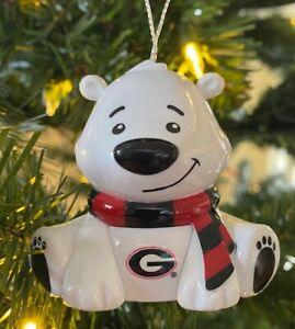 Georgia Bulldogs BEAR Christmas Holiday Tree Ornament - FREE USA SHIPPING