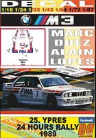 DECAL BMW M3 M.DUEZ YPRES 24 HOURS R. 1989 2nd (01)