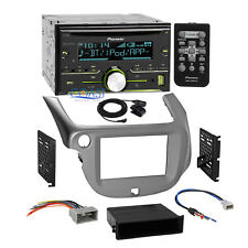 Pioneer CD USB Bluetooth Stereo Silver Dash Kit Harness for 2009-13 Honda Fit