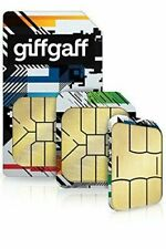 Giff Gaff Sim Card with Credit Pay As You Go £5 FREE Standard Micro Nano PAYG 5