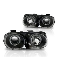 Winjet 1998-2001 Acura Integra Projector Halo Headlights - Black/Clear