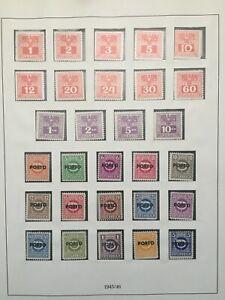 Austria postage due stamps 1922/1957 MNH (Republik Osterreich)
