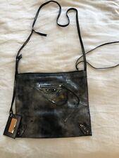 Black Metallic Balenciaga Crossbody Bag City Tote