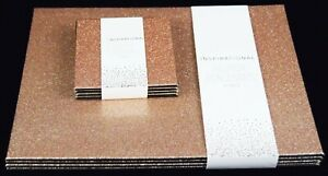 Set of 8 Rose Gold Glitter Placemats & Coasters Sparkle Table Christmas Dinner