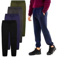 Mens Jogging Bottoms Fleece Joggers Sport Gym Pocket Tracksuit Elasticated Cuff