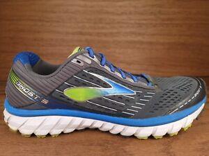 Brooks Ghost 9 Running Shoes Mens Size 12 Medium Gray Blue Green
