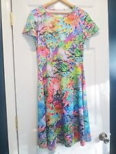 The Paragon Women's Large  Artsy Nature Reflections Dress  NEW