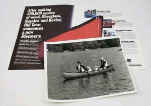 Vintage Old Town Discovery Canoe Dealer Promo Brochure - w/Photo