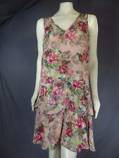 Adrianna Papell  Sleeveless V-neck Floral Print Light Wait  Dress size 14