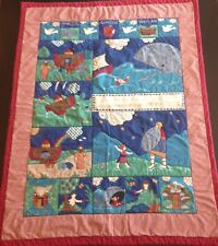 Baby Quilt Noah's Ark, Moses, Dove Christian Religious Bible Scenes Finished