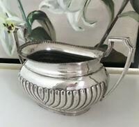 Queen Anne Zucker Henkel Schale Silber auf Britannia Metall England antik