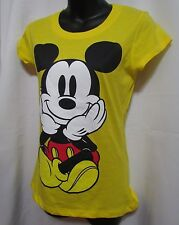 Disney Mickey & Minnie Mouse Women's NWT Size Small Color Yellow Short sleeve