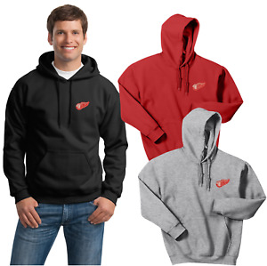 Detroit Red Wings Hooded Sweat Shirts  Embroidered