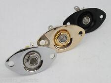 Oval Chrome Jack Plate & Socket for Electric Guitars