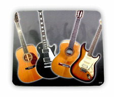 Mouse Mat - Acoustic & Electric Guitars - Music Gift - Musical Mouse Mat