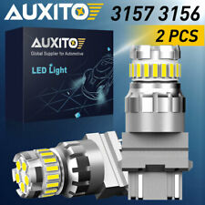 2400LM AUXITO 3157 3156 Back Up Reverse Tail LED Light Bulbs 6000K CANBUS 46W 2X