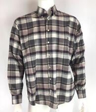 Cinch Mens Western Cowboy Shirt Long Sleeve Button Front Purple Plaid Size M