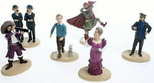 COLLECTION COMPLETE 6 FIGURINES TINTIN PARAMOUNT PICTURES 2011 NEUVES EN BOITES