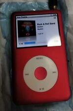 iPod Classic 7TH GEN 160GB Upgraded 512GB SSD SD IFLASH QUAD 3000mAh 100hrs RED