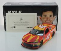 KYLE LARSON #42 2019 AUTOGRAPHED McDONALD'S 1/24 SCALE IN STOCK FREE SHIPPING