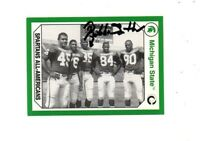 Bubba Smith Michigan State MSU Spartans football signed card DECEASED 1965 b
