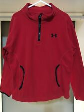 UNDER ARMOUR KIDS SWEATER FLEECE SIZE 5 RED PERFECT CONDITION