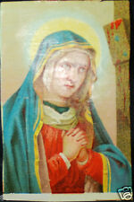 OLD BLESSED VIRGIN MARY HOLY CARD ANDACHTSBILD SANTINI SEE MY EBAY SHOP C758