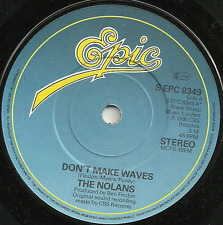 THE NOLANS - DON'T MAKE WAVES / DON'T LET ME BE THE LAST TO KNOW - 80s POP VOCAL