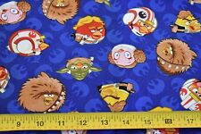 """By 1/2 Yd, """"Angry Birds"""" on Navy Quilt Cotton, Camelot/73300107, N2274"""