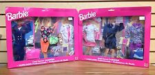 Lot of 2 RARE LARGE ~ Barbie COOL CAREER Fashions Police Dog Chef Dr. Pilot ++