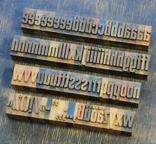 a-z Alphabet 22 mm Plakatlettern Lettern Buchstabenstempel Typo rar Buchstaben