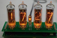 Retro Nixie Tube Clock IN-14  DIY KIT ALL PARTS PCB Yellow