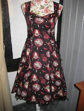 DRESS ROCK N ROLL - JIVE - GOTH - HELL BUNNY - SIZE XS (8)