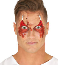 Halloween Prosthetic Stapled Peeled Eyelids Fancy Dress Wound Scar with glue eye