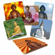 Untersetzer 6-tlg.Set 'Buddha' - Korkrückseite - Buddhismus - Spiritualität