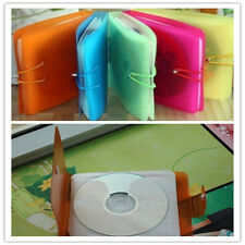 12 CD DVD Disc Double Holders Pack Multi-color Storage Case Bag Container Useful