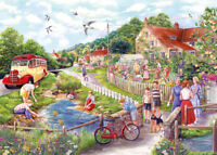 GIBSONS SUMMER BY THE STREAM 1000 PIECE FIONA OSBALDSTONE JIGSAW PUZZLE G6238