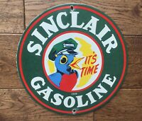 "Vintage Sinclair Gasoline Heavy Porcelain Sign 10"" Gas & Oil Sign"