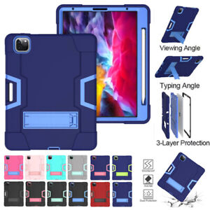 """Heavy Duty Hybrid Stand Case Cover For iPad Pro 11"""" 12.9"""" Air 10.9"""" 2020 4th Gen"""