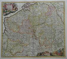 Belgii Pars Meridionalis - Belgien und angrenzende Länder - N. Visscher - 1680
