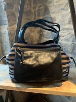 Sonia Rykiel Dauphine Black Leather and Canva GM Cabas