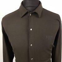 JOOP! Mens Long Sleeve Shirt Top Stretch LARGE Long Sleeve Grey Regular Cotton