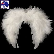 19x16cm Child Kid White Fairy Angel Wings Wing Feather Party Costume CKFWI 9900