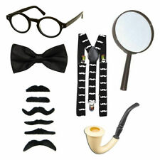 Kids World Book Day Black & White Police Detective Pipe Fancy Dress Accessories