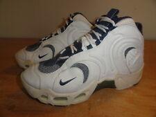 Women's Vintage 1997 White & Blue NIKE AIR High Tops Basketball Sneakers Sz-8.5